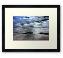 Sea and Sand Forms Framed Print