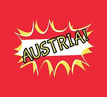 Austria Flag by piedaydesigns