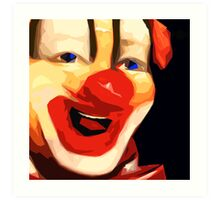 Happy Clown Art Print
