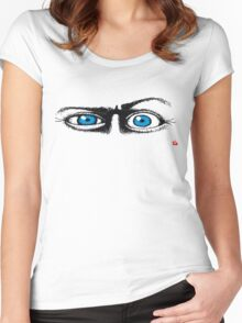 HUMOUR/ EYE'S 1 Women's Fitted Scoop T-Shirt