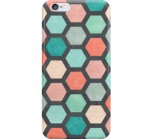 Hexagon 1 - Hexagon pPattern in Coral and Mint iPhone Case/Skin