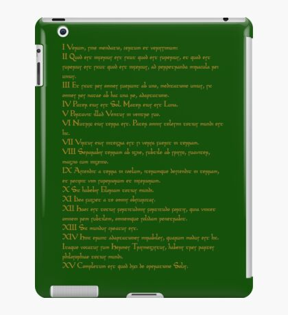 Emerald Tablet of Hermes  iPad Case/Skin
