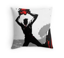 Painting the grass red. Throw Pillow