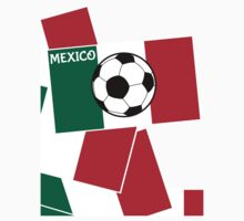 Flag of Mexico Football Kids Tee