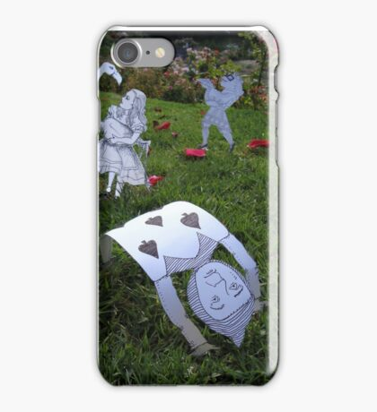 Alice and the Croquet Game iPhone Case/Skin