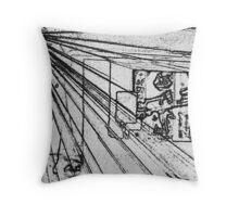 BLACK Electronic Underground #9 Throw Pillow