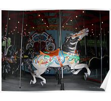 Central Park Carousel Horse Poster