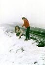 Aussie kids on Snowdon by Ian Ker
