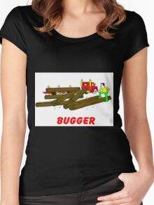 Log Truck Women's Fitted Scoop T-Shirt