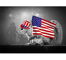 Armed with American Pride - Squirrel Photographic Print
