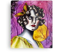 Neotraditional Tattoo Flapper Girl  Metal Print
