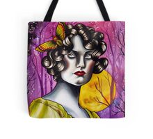 Neotraditional Tattoo Flapper Girl  Tote Bag