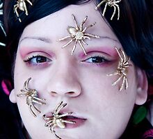 Gothic Golden Spiders by Ainadel Ojeda