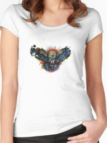 Color Barn Owl Women's Fitted Scoop T-Shirt