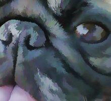 Painted Pug Dog Sticker
