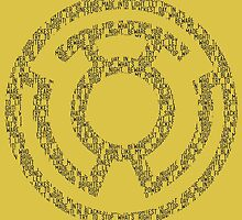 Yellow Lantern Oath (Black)  by DarkBlueOwl