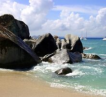 Boulders and Boats At the Baths by DARRIN ALDRIDGE