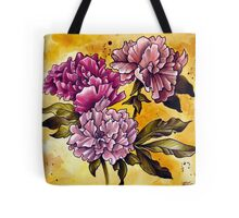 Neotraditional Peonies Tote Bag