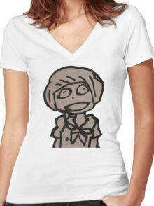 Dumb Mako  Women's Fitted V-Neck T-Shirt