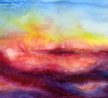 Kiss of Life - Abstract Watercolor Painting by Jacqueline Maldonado