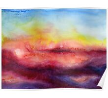 Kiss of Life - Abstract Watercolor Painting Poster
