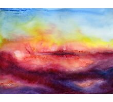 Kiss of Life - Abstract Watercolor Painting Photographic Print