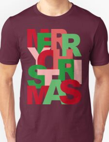Christmas Colors Typography Unisex T-Shirt