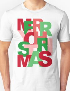 Christmas Colors Typography T-Shirt