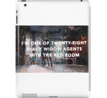 Black Widow: Red Room origins iPad Case/Skin