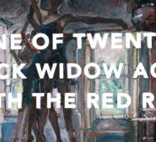 Black Widow: Red Room origins Sticker
