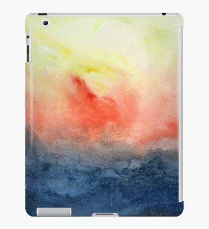 Brush Fire - Abstract Watercolor Landscape iPad Case/Skin
