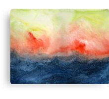 Brush Fire - Abstract Watercolor Landscape Canvas Print