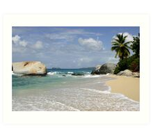 Idyllic tropical beach scene Art Print