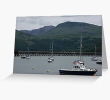 barmouth harbour Greeting Card