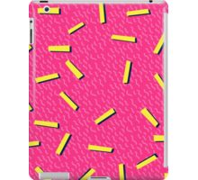 Retro 80's club leggings iPad Case/Skin