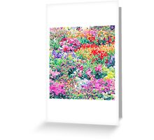 Secret Garden - Impressionist Garden Watercolor Painting Greeting Card