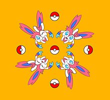 Sylveon Wheel Design on Gold by aeogamer