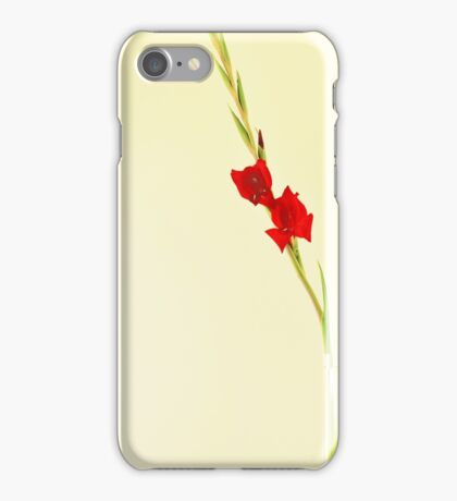 Red Gladiolus Spike iPhone Case/Skin