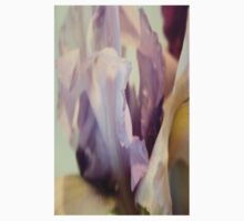 Pale Lilac Iris Abstract One Piece - Long Sleeve