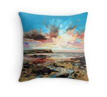 Beach at Loch Brittle Throw Pillow
