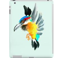Watercolor Brush Stroke Kingfisher iPad Case/Skin