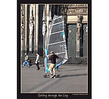 Surfin' through the city Photographic Print