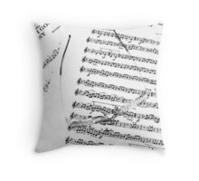 Learning the Score !! Throw Pillow