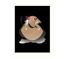 Superhero Hamster Art Print