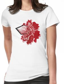Sanguine Rose Womens Fitted T-Shirt