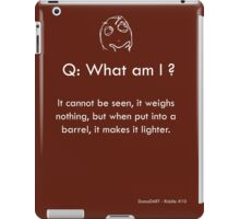 Riddle #10 iPad Case/Skin