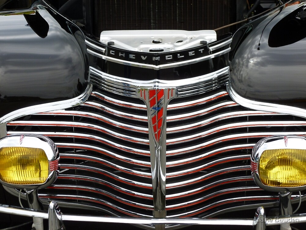 1941 CHEVROLET GRILL by Elaine Bawden