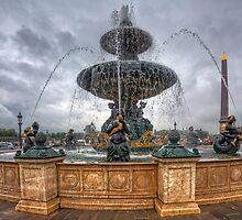 Fountain at Place de la Concorde by Barbara Harris