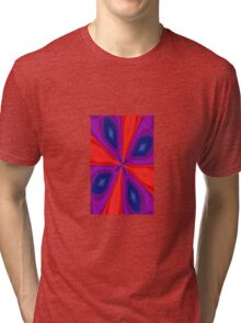 Red, Purple and Gold Quadrant Tri-blend T-Shirt