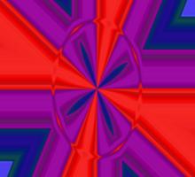 Red, Purple and Gold Quadrant Sticker